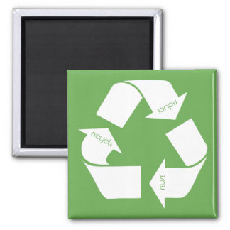 Recycle Symbol Square Magnet