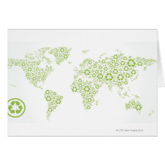 Recycle symbols used to create the planet card