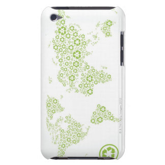 Recycle symbols used to create the planet Case-Mate iPod touch case