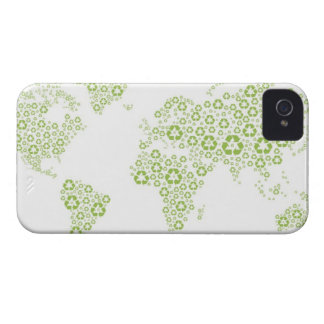 Recycle symbols used to create the planet iPhone 4 cover