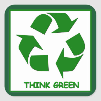 Recycle Think Green Sticker