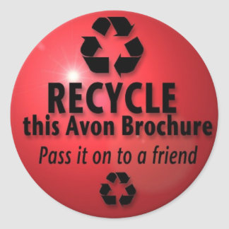 RECYCLE THIS BROCHURE ROUND STICKER
