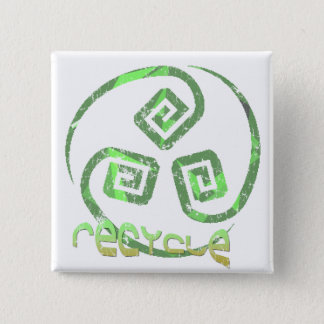 Recycle Tribal button