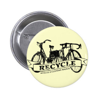 Recycle Velos ReBicycle 6 Cm Round Badge