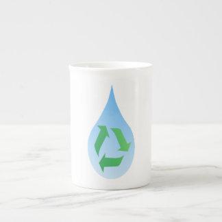 Recycle Water Bone China Mug