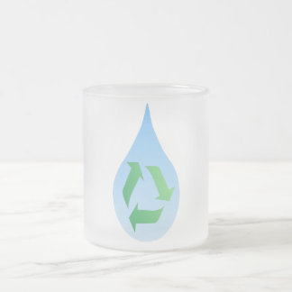 Recycle Water Frosted Glass Mug