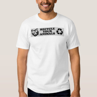 recycle-your-animals tshirt