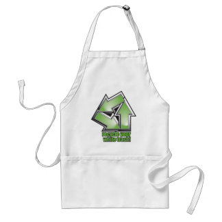 recycle your white trash in green standard apron