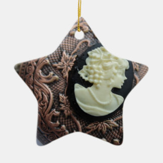 Recycled Cameo Christmas Ornament