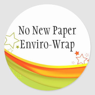 Recycled Gift Wrap Round Sticker