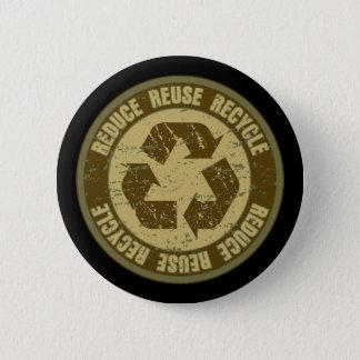 Recycled Grunge 6 Cm Round Badge