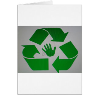 Recycled Handprint Greeting Card