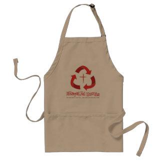 Recycled Human Christian apron