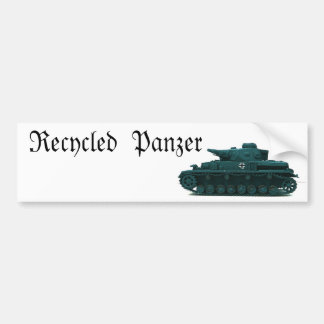 Recycled  Panzer Bumper Sticker