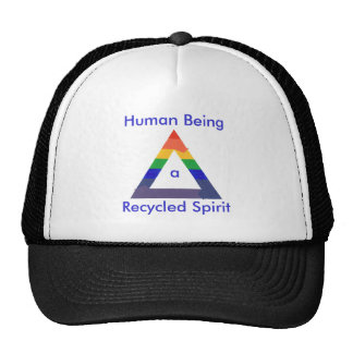 Recycled Spirit Rainbow Triangle hats