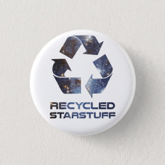 Recycled Star Stuff 3 Cm Round Badge