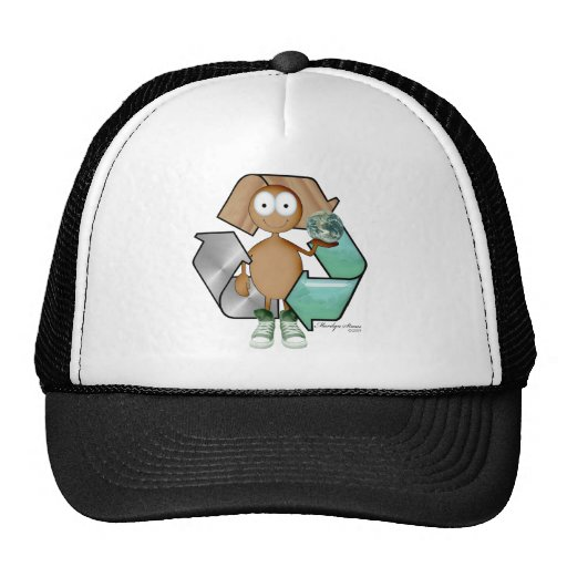 Recycler brown skin trucker hats