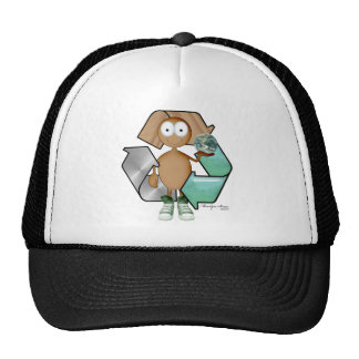 Recycler brown skin hats
