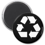Recycling 6 Cm Round Magnet