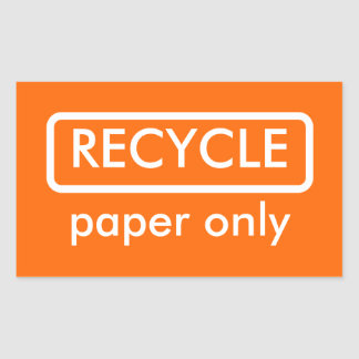 Recycling Bin Label Template Sticker