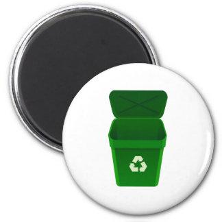 Recycling Bin Fridge Magnet