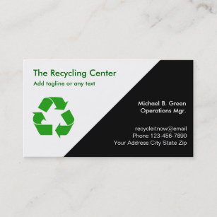 Recycled plastic gifts gift ideas zazzle uk recycling business cards reheart Images