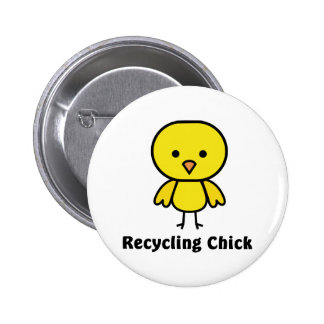 Recycling Chick 6 Cm Round Badge
