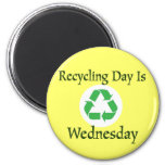 Recycling Day Wednesday Reminder Magnet