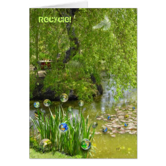 Recycling Earth! Greeting Card