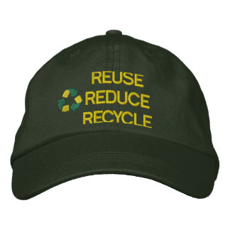 Recycling Embroidered Hat