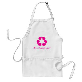 Recycling is chic! adult apron