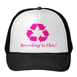 Recycling is chic! hat