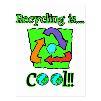 Recycling is Cool Postcard