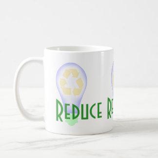 Recycling Light Bulb Basic White Mug