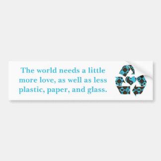 Recycling Love Car Bumper Sticker