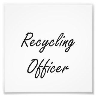 Recycling Officer Artistic Job Design Art Photo