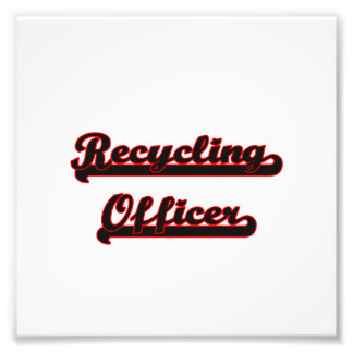 Recycling Officer Classic Job Design Photograph