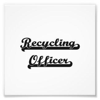 Recycling Officer Classic Job Design Photo Print