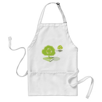 Recycling paper! Save trees! Standard Apron