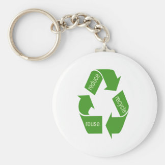 Recycling Recycle Iconic Green Basic Round Button Key Ring