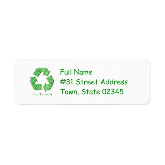 Recycling Return Address Label