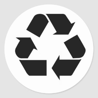 Recycling Round Sticker