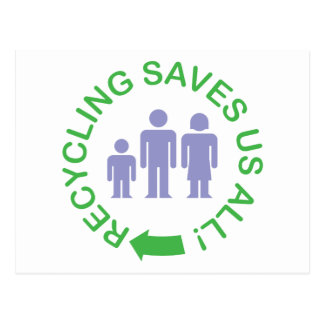 Recycling Saves Us All Post Cards