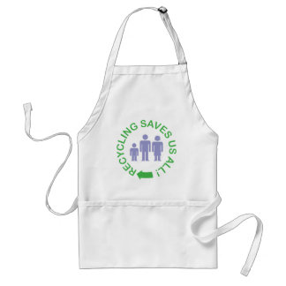 Recycling Saves Us All Standard Apron