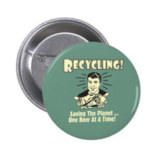 Recycling: Saving the Planet 6 Cm Round Badge