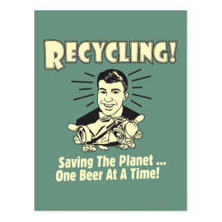 Recycling: Saving the Planet Postcard