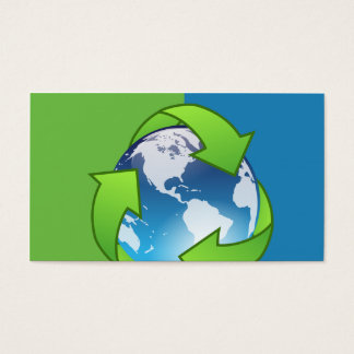 Recycling Service Globe Business Cards