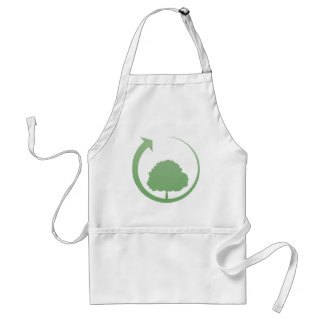 Recycling sign adult apron