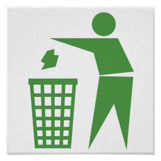 Recycling sign poster