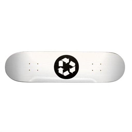 Recycling Sign Custom Skate Board
